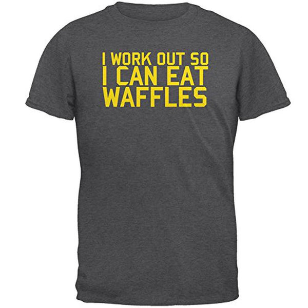 Work Out Eat Waffles Mens T Shirt