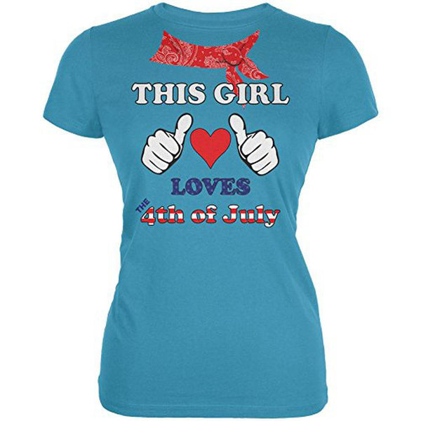 This Girl Loves the 4th of July Juniors Soft T Shirt