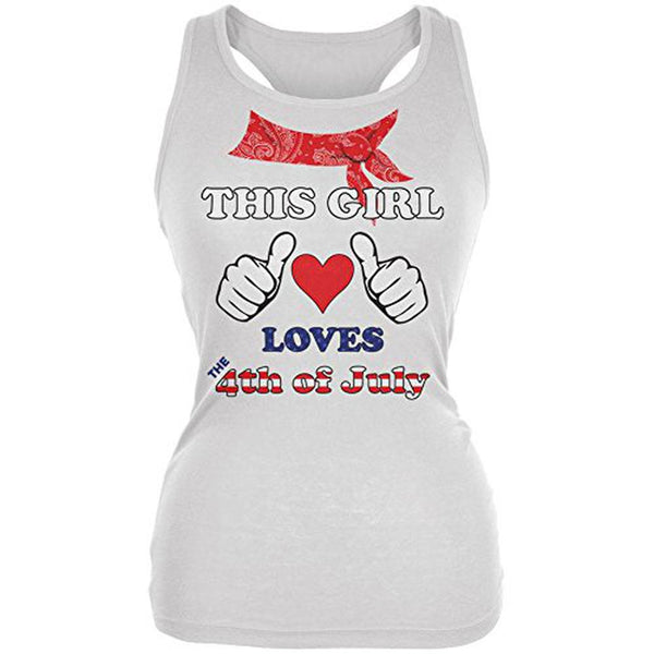 This Girl Loves the 4th of July Juniors Soft Tank Top