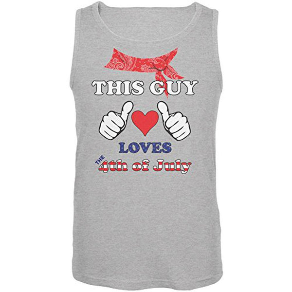 This Guy Loves the 4th of July Mens Tank Top