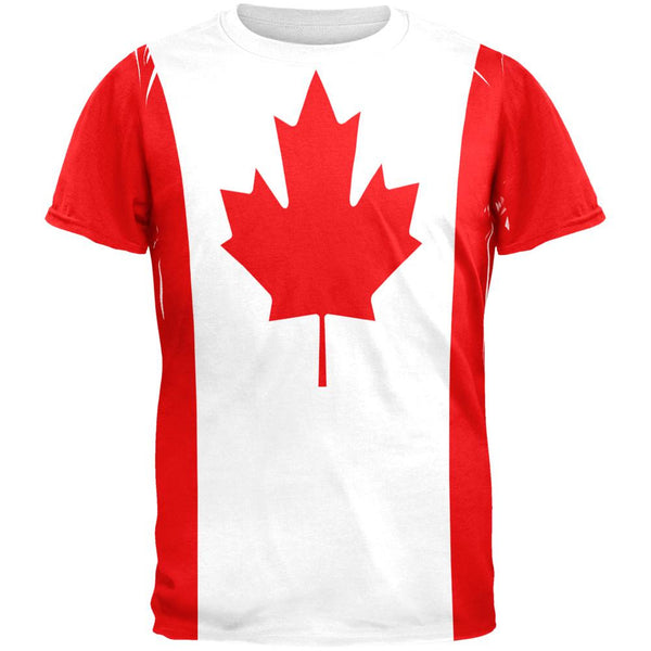 Canadian Canada Flag All Over Mens T Shirt