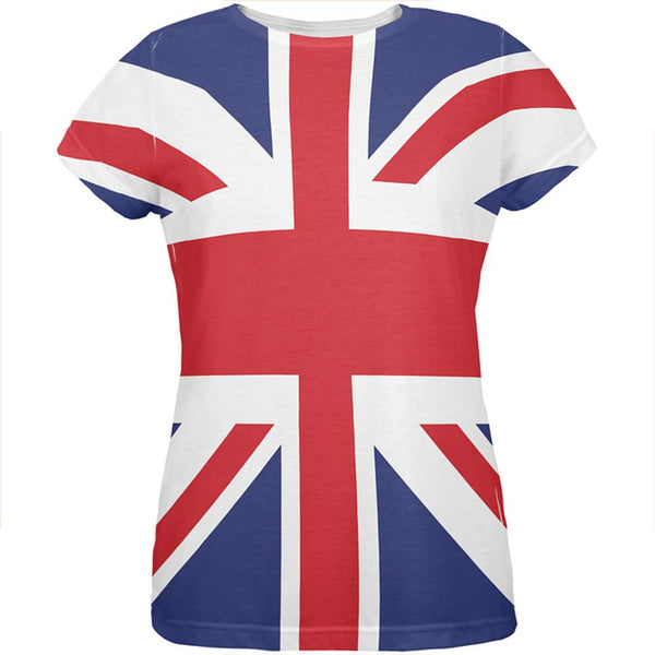 British Flag Union Jack All Over Womens T Shirt