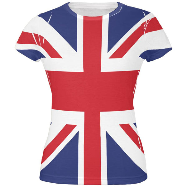 British Flag Union Jack All Over Juniors T Shirt