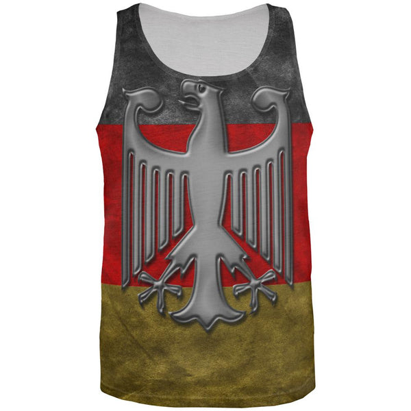 German Flag Eagle Crest All Over Mens Tank Top