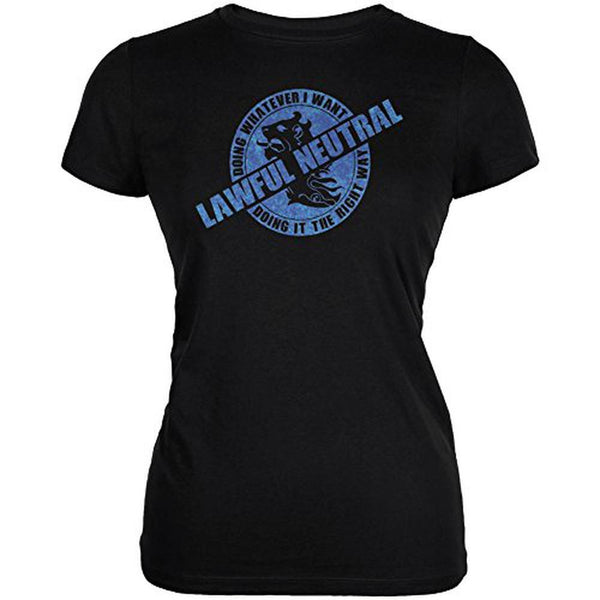 Alignment Lawful Neutral Juniors Soft T Shirt