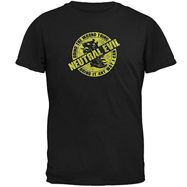Alignment Neutral Evil Mens T Shirt