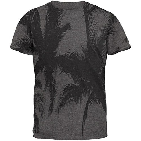 Black And White Palm Tree Silhouette Mens Soft T Shirt