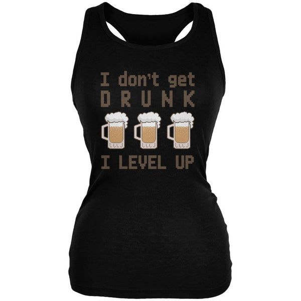 I Don't Get Drunk I Level Up Juniors Soft Tank Top