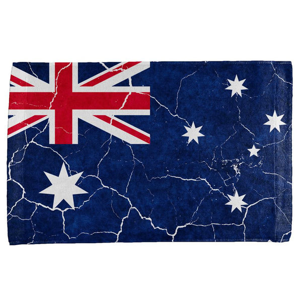 Distressed Australian Flag All Over Hand Towel
