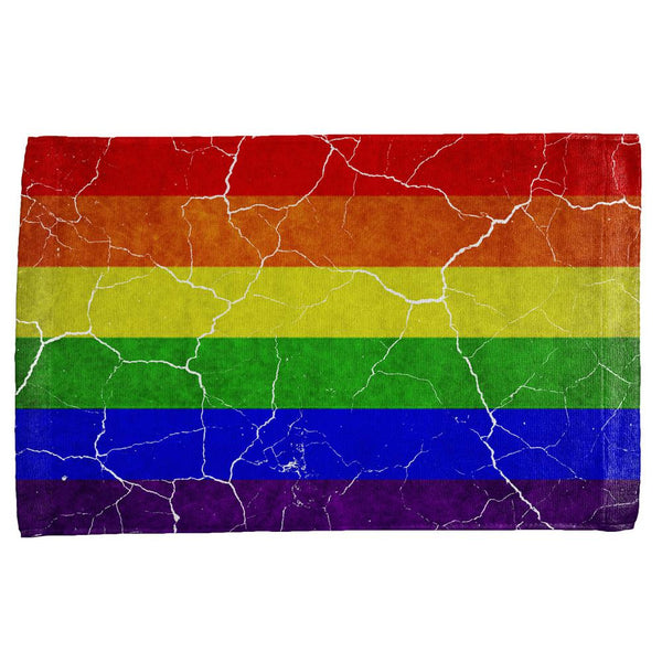 Distressed Gay Pride Flag All Over Hand Towel