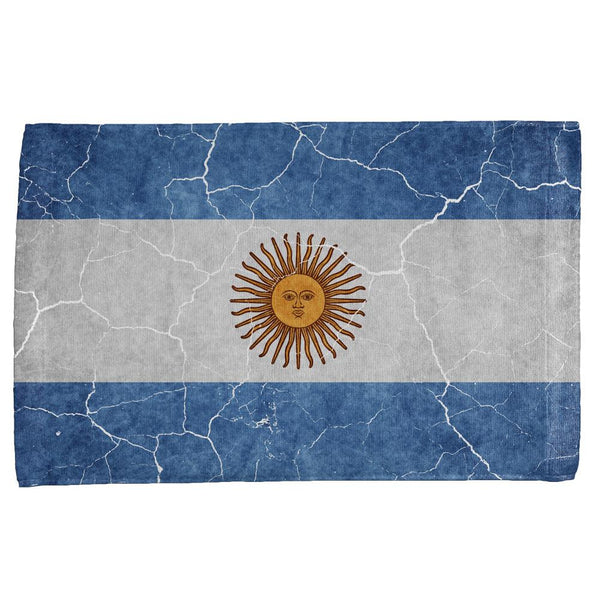 Distressed Argentina Flag All Over Hand Towel