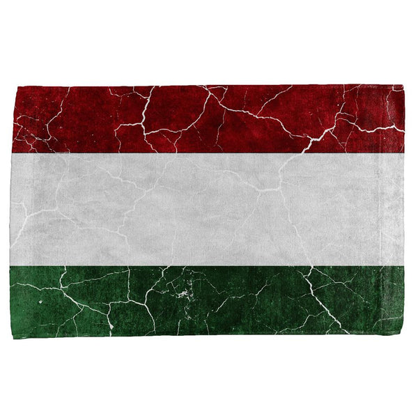 Distressed Hungarian Flag All Over Hand Towel