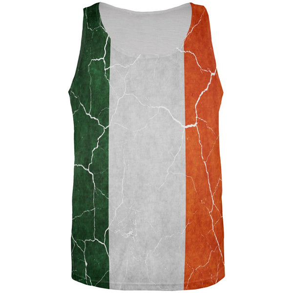 Distressed Irish Flag All Over Mens Tank Top