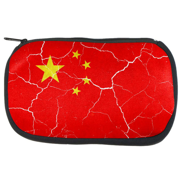 Distressed Chinese Flag Travel Bag