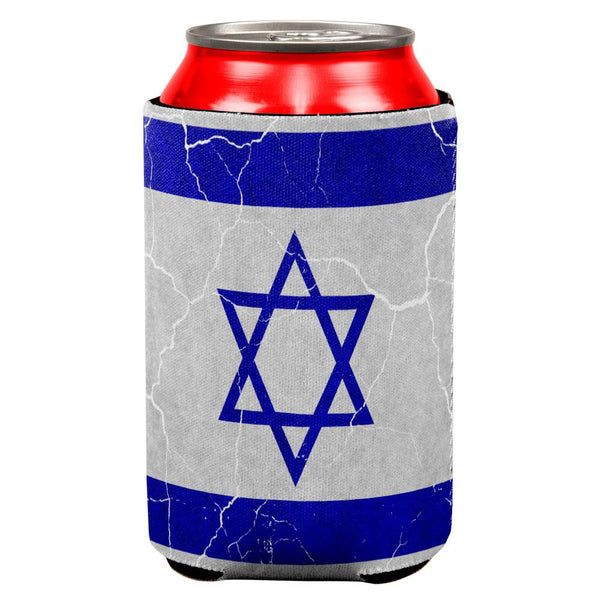 Distressed Israeli Flag All Over Can Cooler