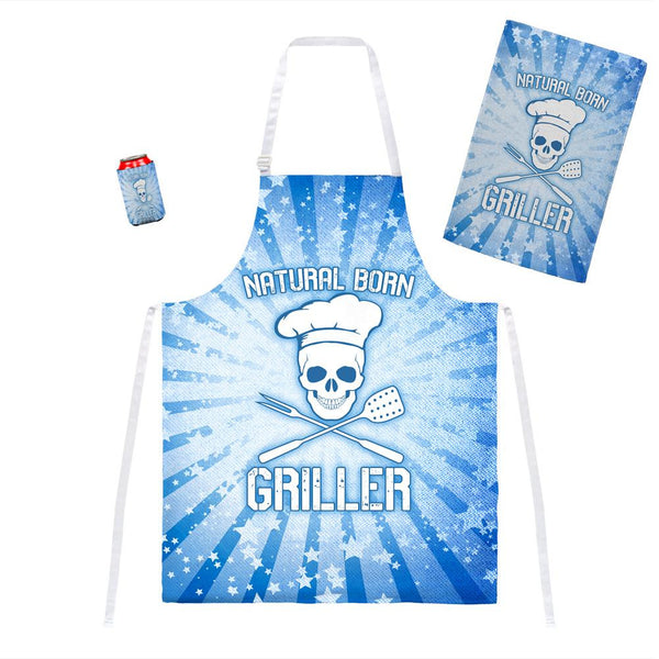 Natural Born Griller Blue All Over Grill Set