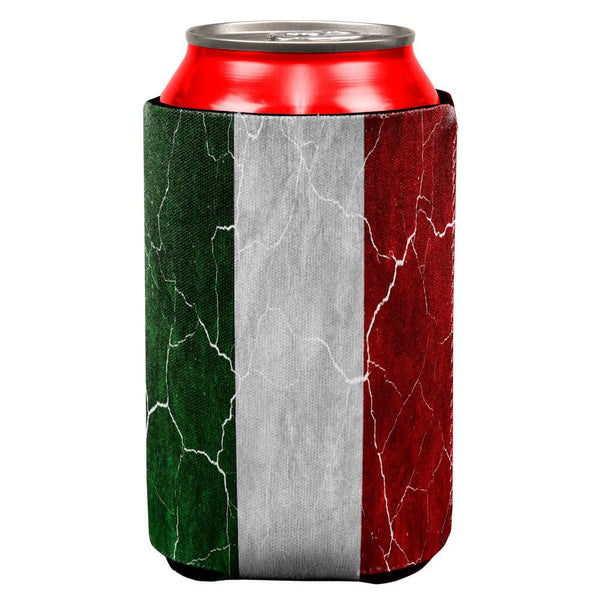 Distressed Italian Flag All Over Can Cooler