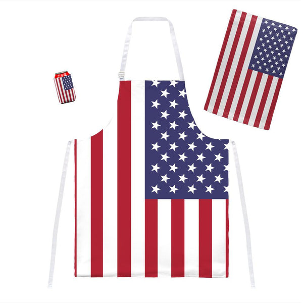 4th of July American Flag Grill Set