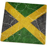 Distressed Jamaican Flag Square Sandstone Coaster