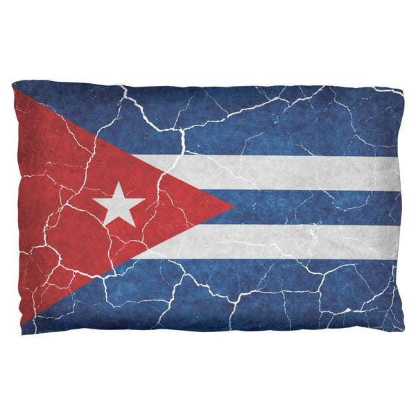 Distressed Cuban Flag Pillow Case