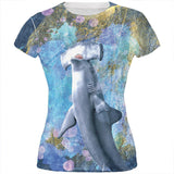 Hammerhead Distressed Splatter All Over Juniors T Shirt