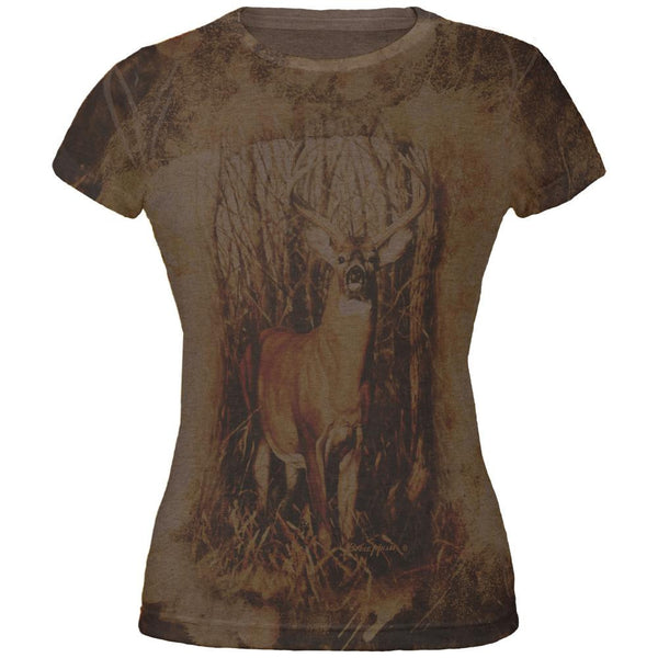 10 Point Buck Urban Juniors Soft T Shirt