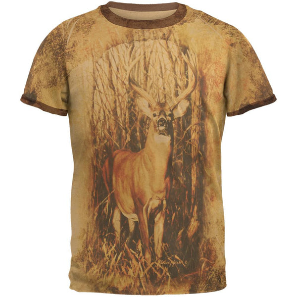 10 Point Buck Urban Juniors Soft Ringer T Shirt