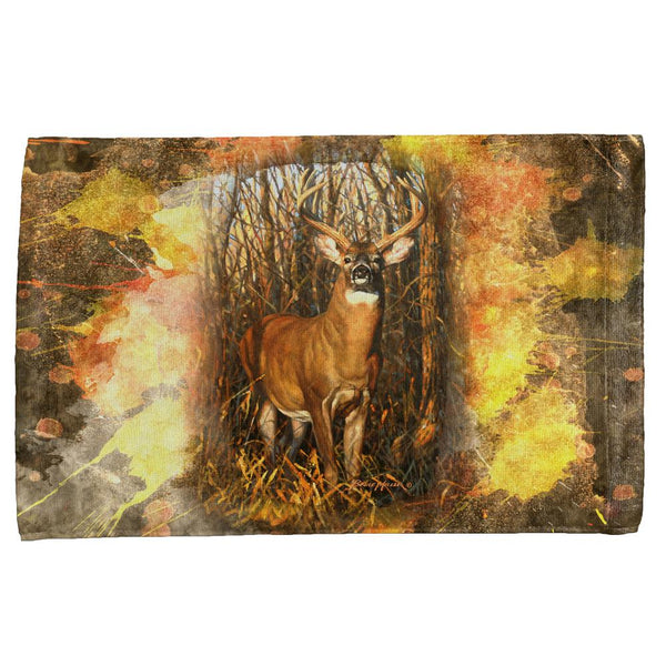 10 Point Buck Splatter All Over Hand Towel