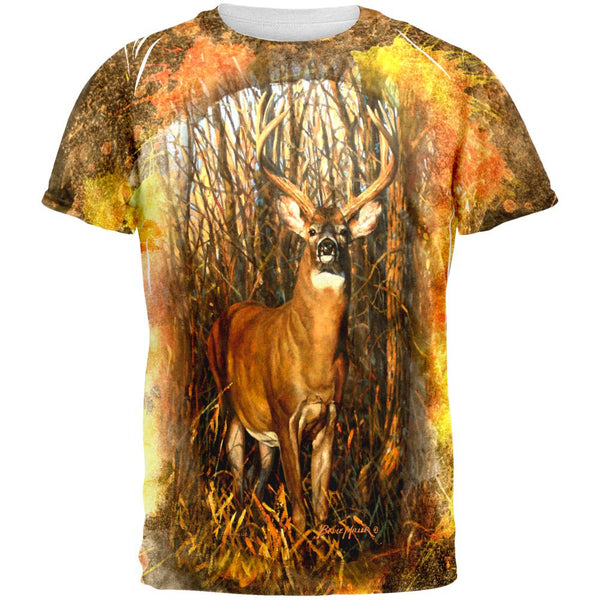 10 Point Buck Splatter All Over Mens T Shirt