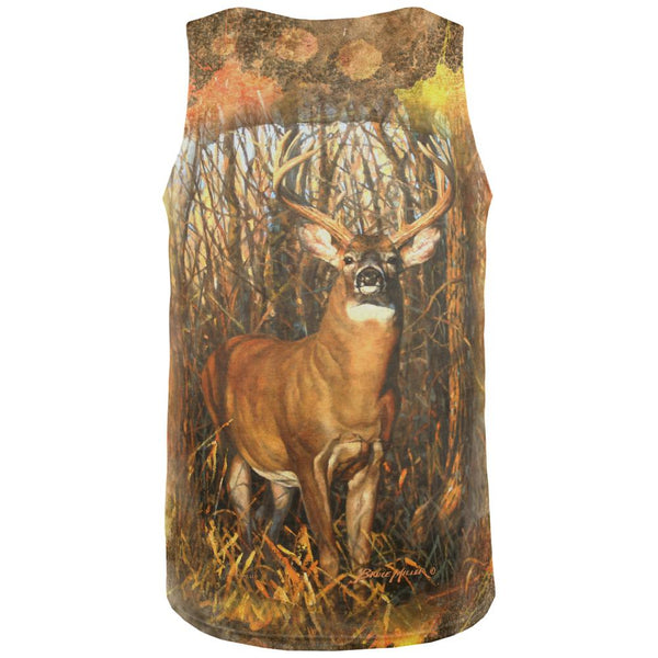 10 Point Buck Splatter All Over Mens Tank Top