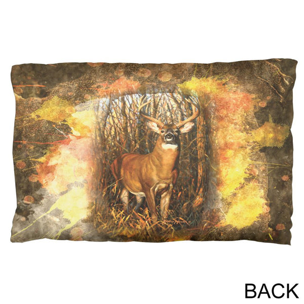 10 Point Buck Splatter Pillow Case