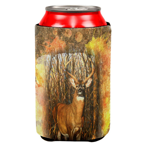 10 Point Buck Splatter All Over Can Cooler