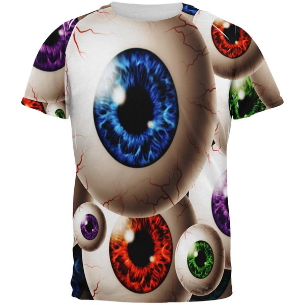 Creepy Watcher Eyeballs All Over Mens T Shirt