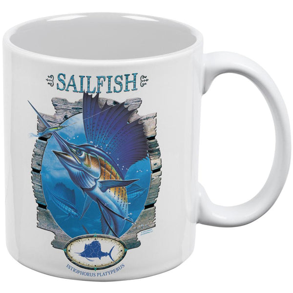Sailfish Deep Sea Fishing All Over Coffee Mug
