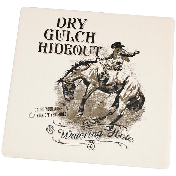 Dry Gultch Hideout and Watering Hole Square Sandstone Coaster