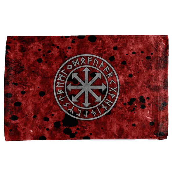 Viking Warrior Chaos Symbol All Over Hand Towel