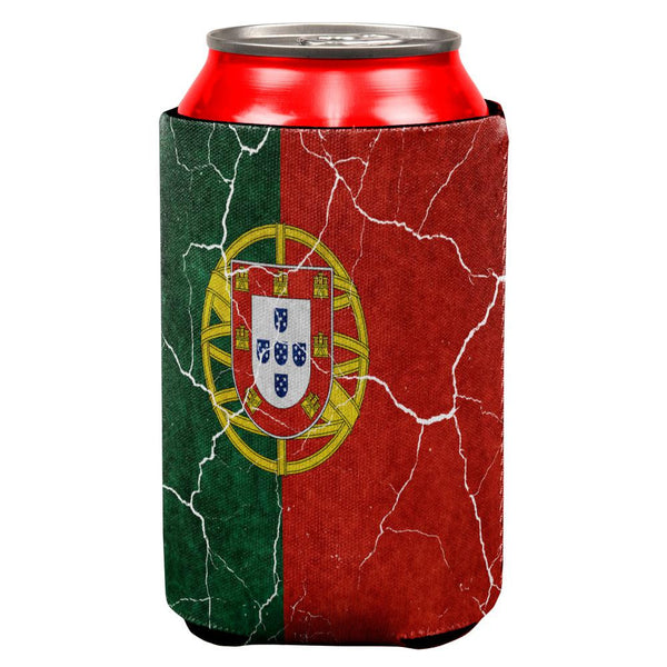 Distressed Portuguese Flag All Over Can Cooler