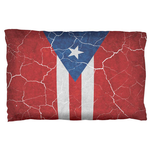 Distressed Puerto Rican Flag Pillow Case