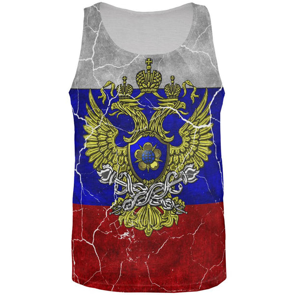 Distressed Russian Imperial Flag All Over Mens Tank Top