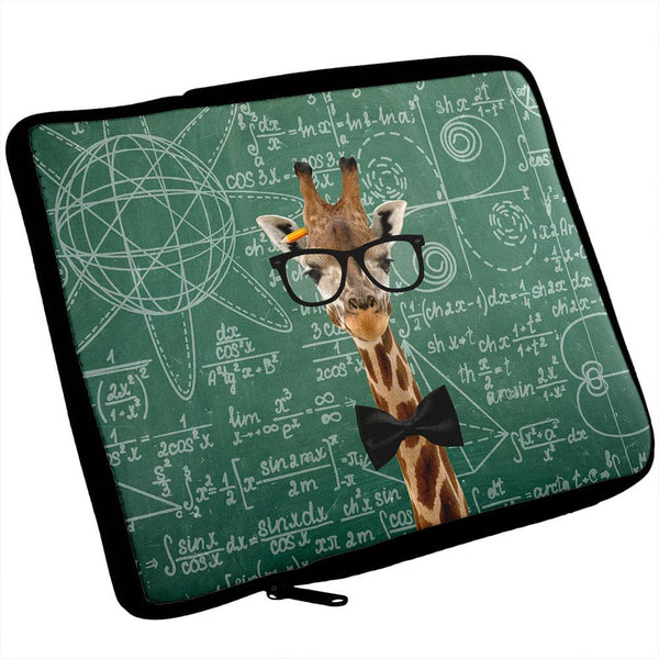 Giraffe Geek Math Formulas Laptop Sleeve 17 inch