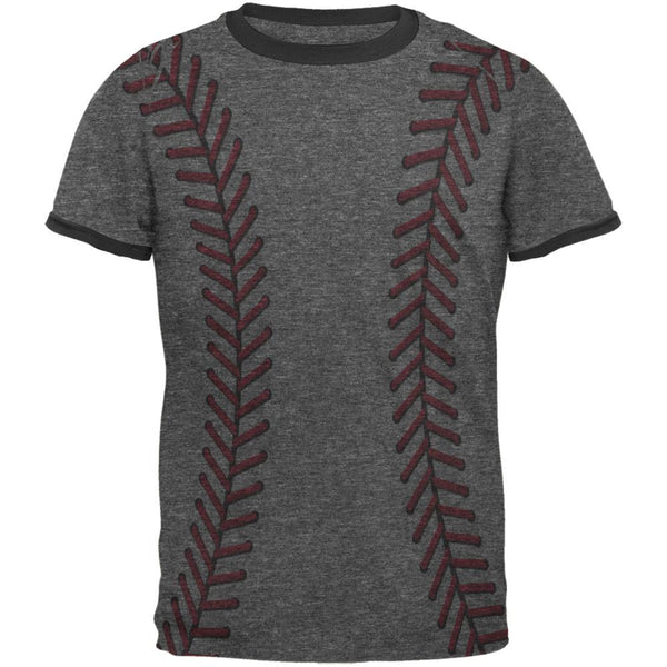Softball Stitches Mens Ringer T Shirt