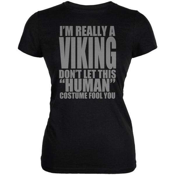 Halloween Human Viking Costume Juniors Soft T Shirt