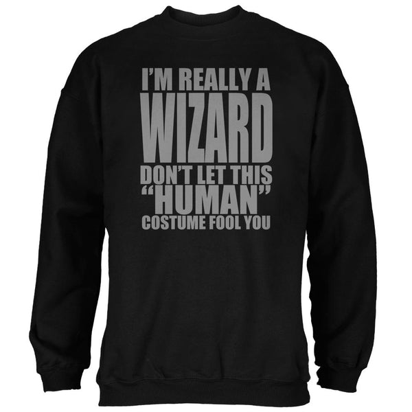 Halloween Human Wizard Costume Mens Sweatshirt
