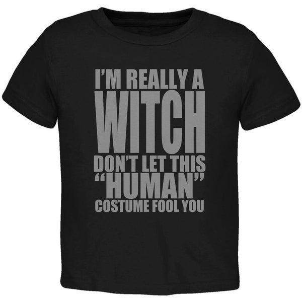Halloween Human Witch Costume Toddler T Shirt