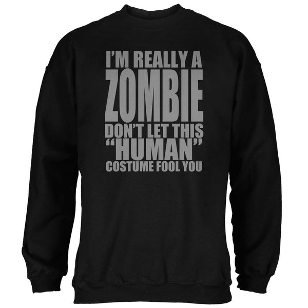 Halloween Human Zombie Costume Mens Sweatshirt