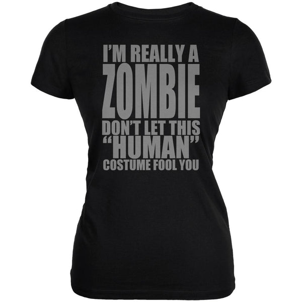 Halloween Human Zombie Costume Juniors Soft T Shirt