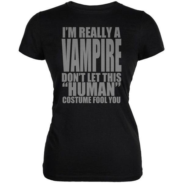 Halloween Human Vampire Costume Juniors Soft T Shirt