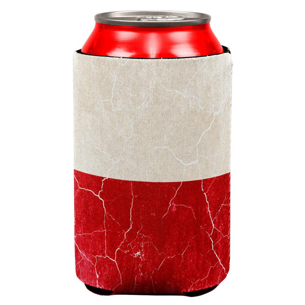Distressed Grunge Polish Flag All Over Can Cooler