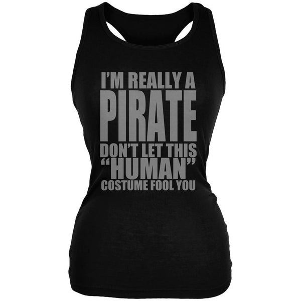 Halloween Human Pirate Costume Juniors Soft Tank Top