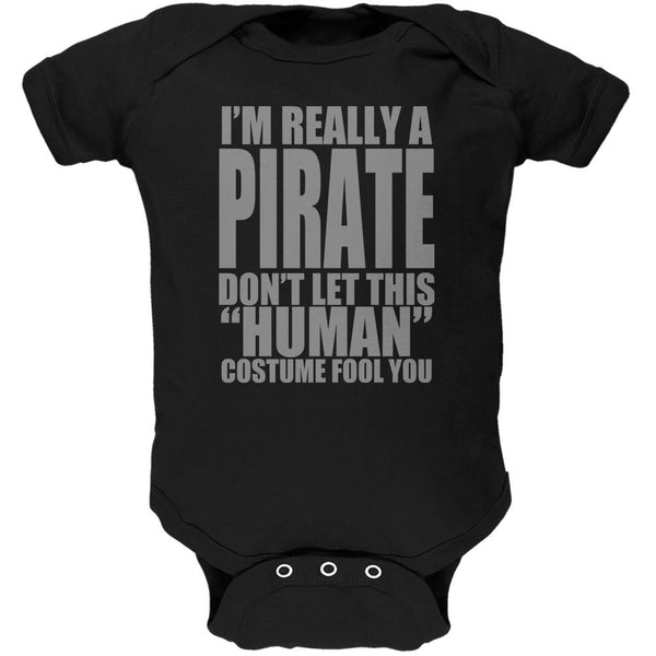 Halloween Human Pirate Costume Soft Baby One Piece